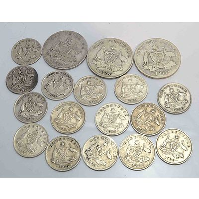 Australia Geo V Silver Coins - High Silver Content