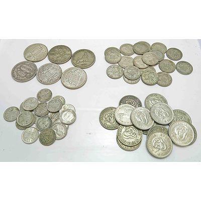 Australia Collection Of Silver Coins