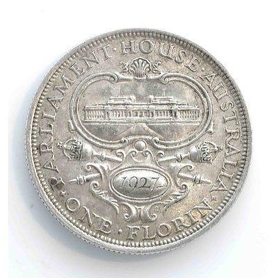 Australia Canberra Silver Florin 1927