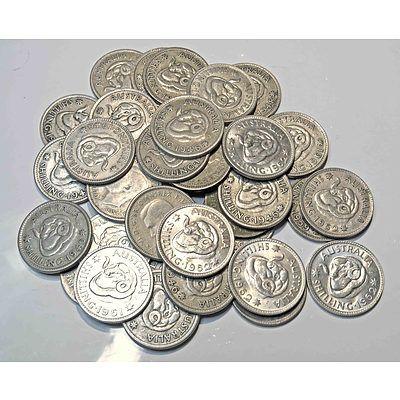 Australia Silver Shillings 1946-1962