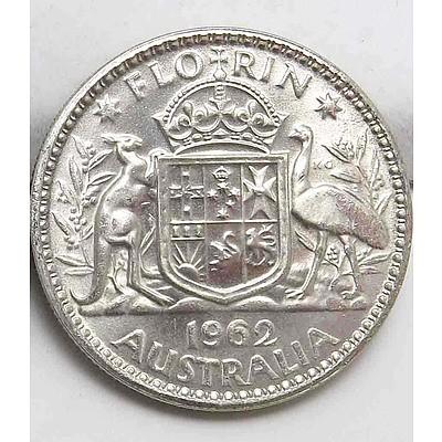 Australia Silver Florin 1962 Uncirculated