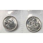Australia Silver Sixpences 1963 Uncirculated