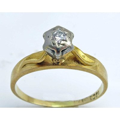 Vintage Diamond Ring - 18ct Gold
