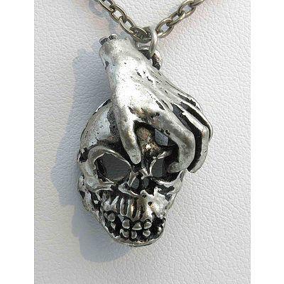 Pewter Skull Pendant