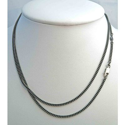 Pandora Sterling Silver Chain - Antique, Blackened Finish