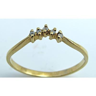 Vintage Diamond Ring - 9ct Gold