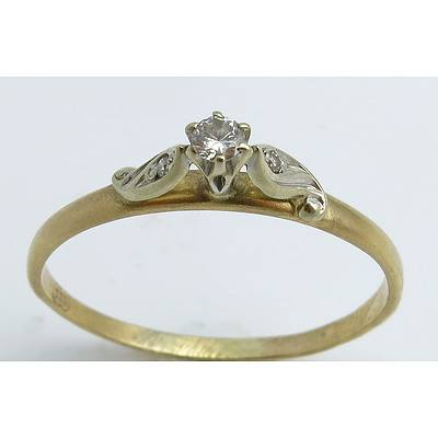 Vintage Diamond Ring - 9ct Gold