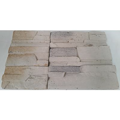 Ornate Rectangular Clay Feature Wall Tiles - 5 Square Meters - Brand New