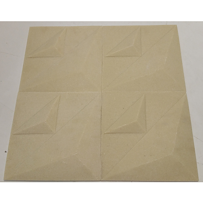 3D Ceramic Wall Tiles - Box of 22 - Lot of Four Boxes(approx 3.5 Square Meters) - Brand New