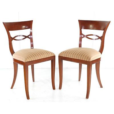 Set of Eight Bell Epoque Style Maple Dining Chairs, Late 20th Century