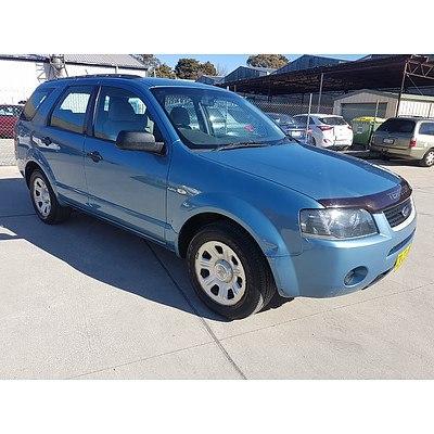 6/2005 Ford Territory TX (4x4) SX 4d Wagon Blue 4.0L