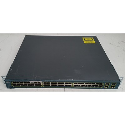 Cisco Catalyst (WS-C3560G-48PS-E V05) 3560G Series PoE-48 48-Port Gigabit Managed Switch