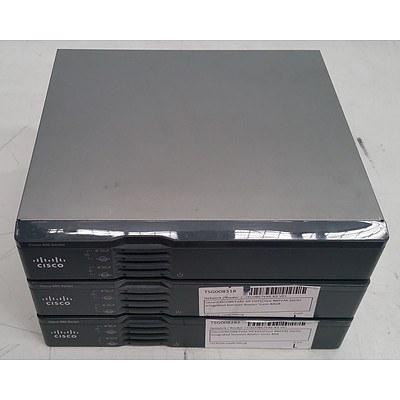 Cisco (CISCO867VAE-K9) 860 Series Routers - Lot of Three