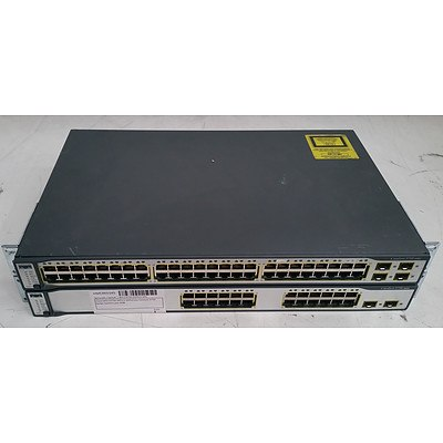 Cisco Catalyst 3750 Series Ethernet Switches - Lot of Two