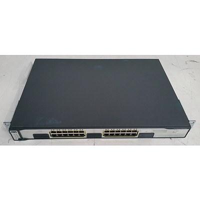 Cisco Catalyst (WS-C3750G-24T-E V05) 3750 Series 24-Port Gigabit Managed Switch