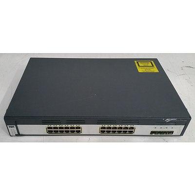 Cisco Catalyst (WS-C3750G-24TS-S) 3750 Series 24-Port Gigabit Managed Switch