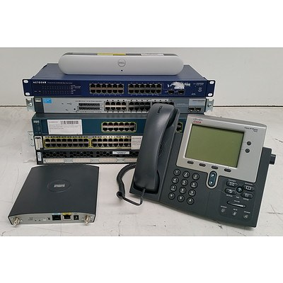 Bulk Lot of Assorted IT & Office Equipment - Switches, Access Points & Office Phones