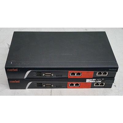 Riverbed Steelhead SHA-00250-M & SHA-00550-M Firewall Appliances - Lot of Two