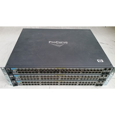 HP ProCurve (J9089A) 2610-48-PWR 48-Port Fast Ethernet Switches - Lot of Three