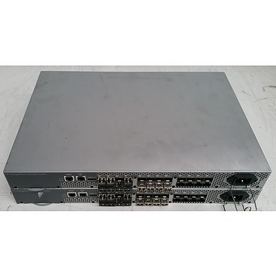 HP StorageWorks (AM867A) 8/8 SAN Fibre Switch - Lot of Two