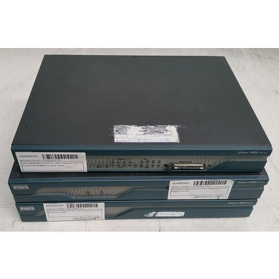Cisco Systems 1800 Series Integrated Service Routers - Lot of Three