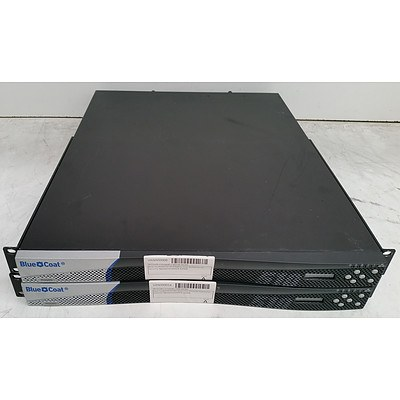 Blue Coat (SG510-20-PR) ProxySG 510 Series Network Security Appliance - Lot of Two