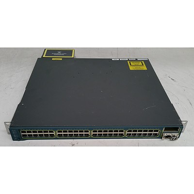 Cisco Catalyst (WS-C3560E-48PD-SF V01) 3560-E Series PoE-48 48-Port Gigabit Managed Switch