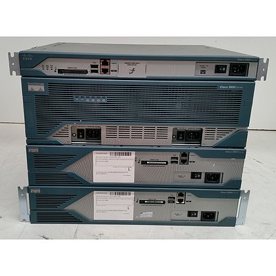 Cisco Systems 2800 Series & 3800 Series Integrated Service Routers - Lot of Four