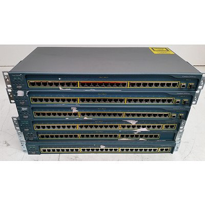 Cisco Catalyst 2950 Series Ethernet Switches - Lot of Six