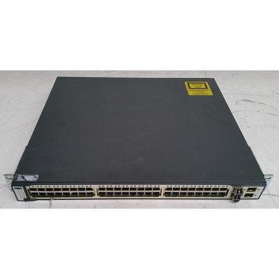 Cisco Catalyst (WS-C3750G-48PS-E V02) 3750G Series PoE-48 48-Port Gigabit Managed Switch