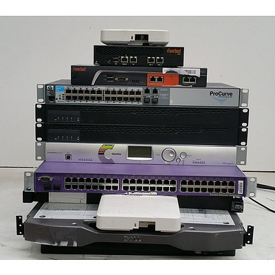 Bulk Lot of Assorted IT Equipment - Access Points, KVM Consoles & Switches