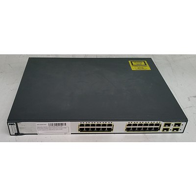 Cisco Catalyst (WS-C3750G-24PS-E V05) 3750G Series PoE-24 24-Port Gigabit Managed Switch