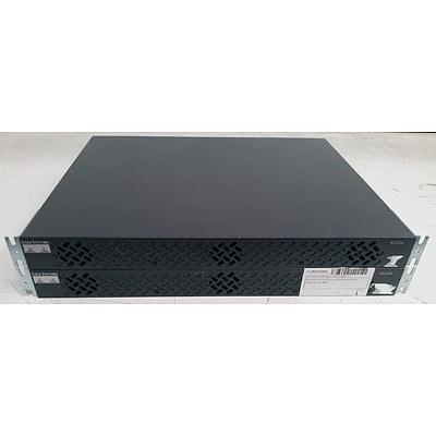 Cisco Systems (VG224 V03) Analog Voice Gateway - Lot of Two