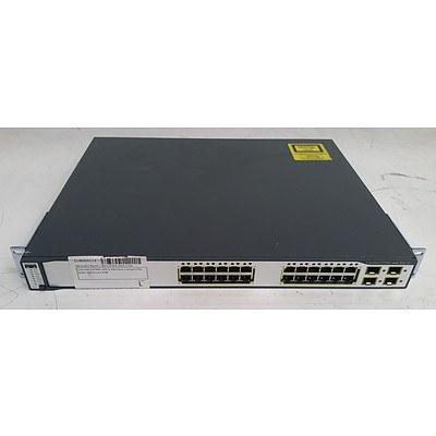Cisco Catalyst (WS-C3750G-24PS-S V06) 3750G Series PoE-24 24-Port Gigabit Managed Switch