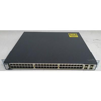 Cisco Catalyst (WS-C3750G-48PS-S V06) 3750G Series PoE-48 48-Port Gigabit Managed Switch