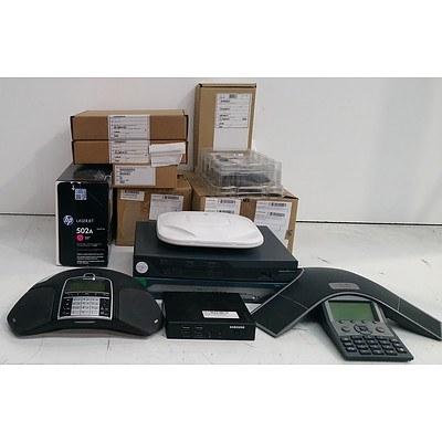 Bulk Lot of Assorted IT & Office Equipment - Office Phones, Routers & Toner Cartridges