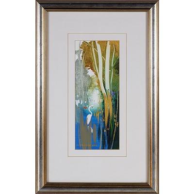 Ken Taber (1942 -) Backwater, Acrylic on Board