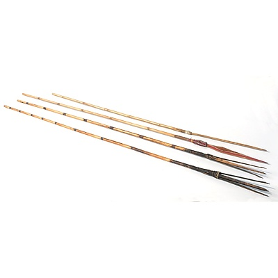 New Guinea Tribal Bow and Arrows