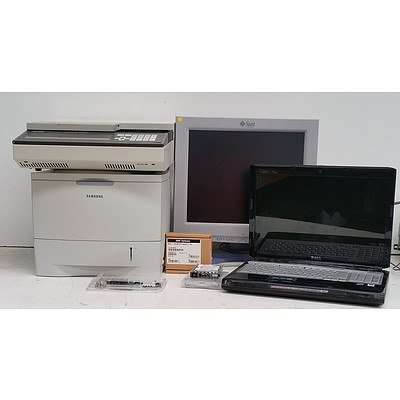Bulk Lot of Assorted IT & Office Equipment - Monitors, Printer & Assorted Components