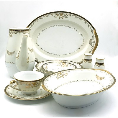 Ninety Seven Piece Hand Painted First China Dinner Set
