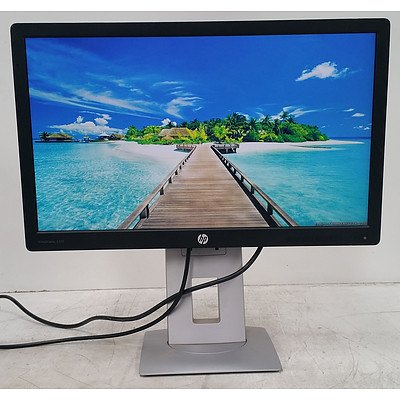 HP EliteDisplay (E222) 22-Inch Full HD (1080p) Widescreen LED-Backlit LCD Monitor - Lot of Two