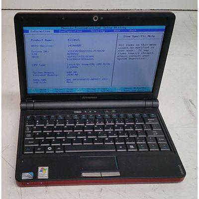 Lenovo ideapad S10e 10-Inch Intel Atom CPU (N270) 1.60GHz Netbook