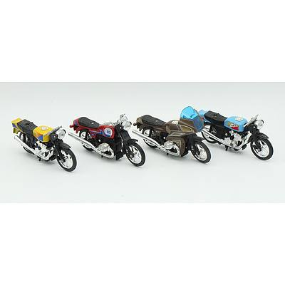 Four Friction-motor Motorbikes