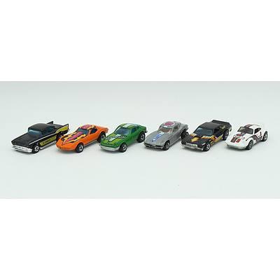 6 Hotwheels Cars Including; Corvette Stingray, P-911, Split Window C2 Corvette, Z Whiz, '57 Chevy and More
