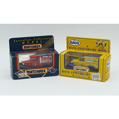 2 Boxed Ford Model A Trucks, One RACQ Anniversary Model Limited Edition, Australian Collectors Model Tandy Electronics