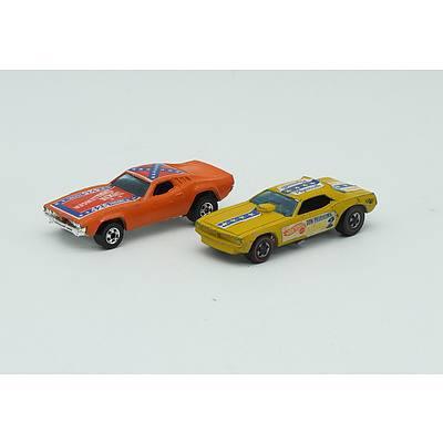 Hotwheels Redline Don Prudhomme Plymouth, Hotwheels Dixie Challenger 426 Hemi