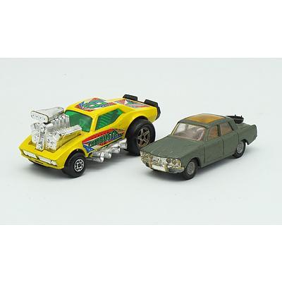 MatchBox K-34/44 Cambuster Green Glass, Corgi Toys Rover 2000TC
