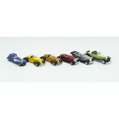 6 Toy Cars Including; Tomica, Hotwheels and More