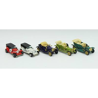 5 Model Cars Including; Caddilac, Rolls-Royce Silver Ghost, Packard Landaulet and More