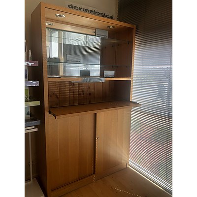Display Cabinets With Downlights - Lot of 2